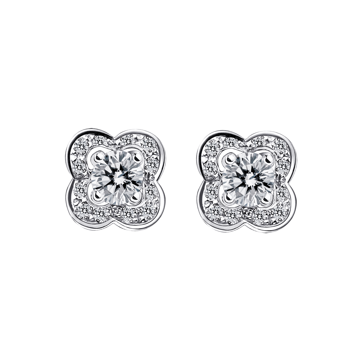 Chance of Love earrings, white gold and diamonds