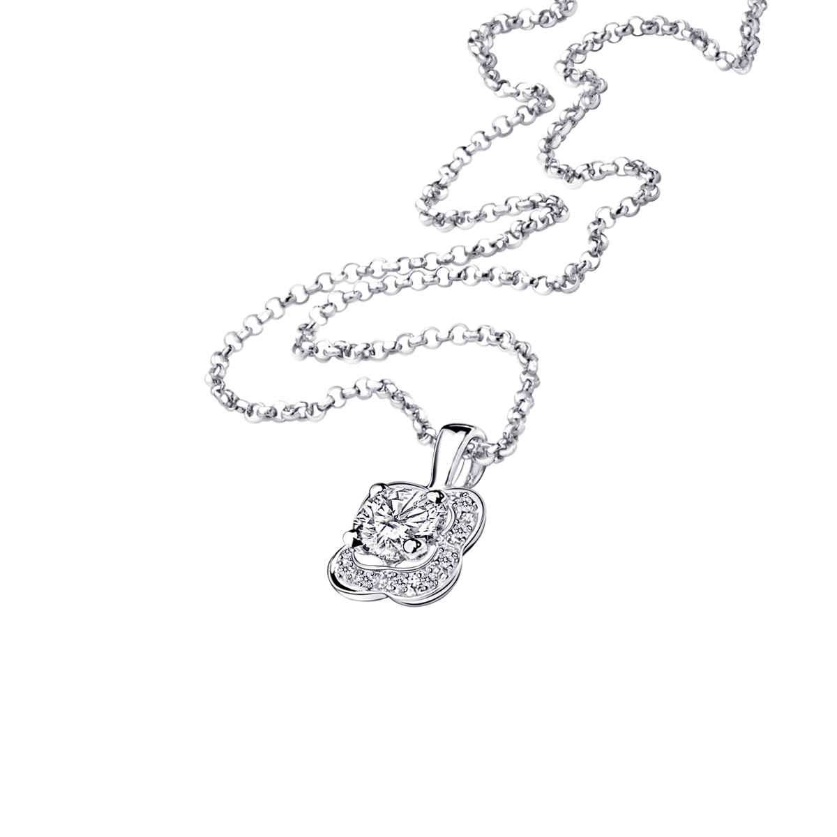 Chance of Love N°4 pendant, white gold and diamonds