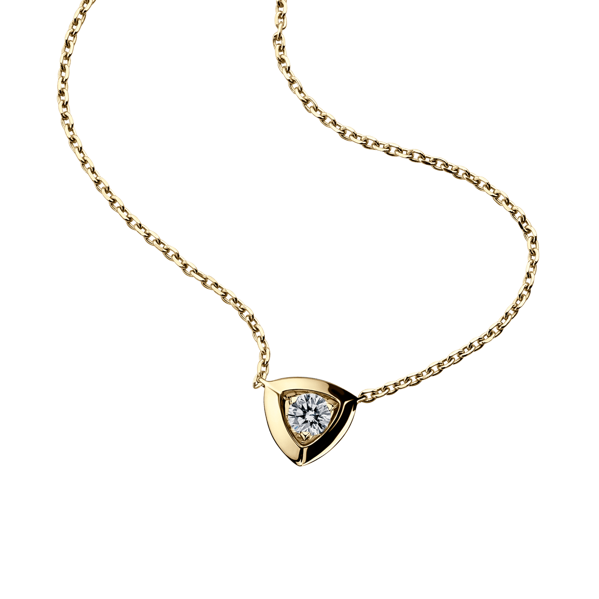 Dream & Love Pendant , yellow gold, central diamond 0,30 carat approximatively