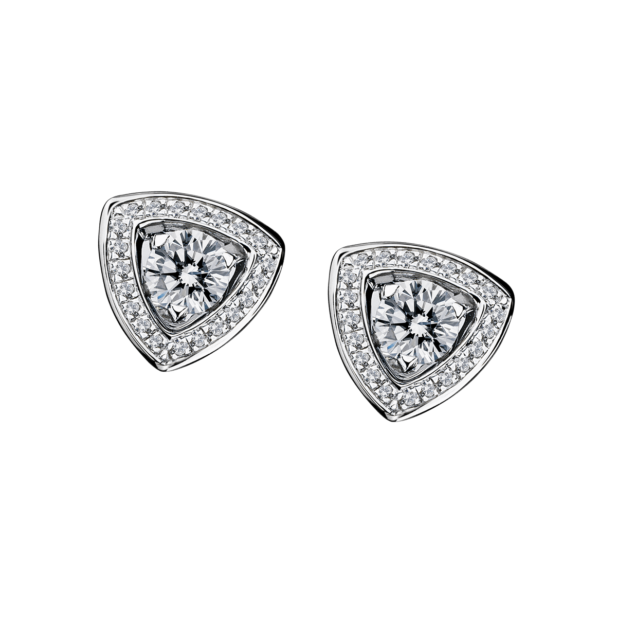 Dream & love Earrings, white gold, 2*0,30 carat approximatively, diamond pavement