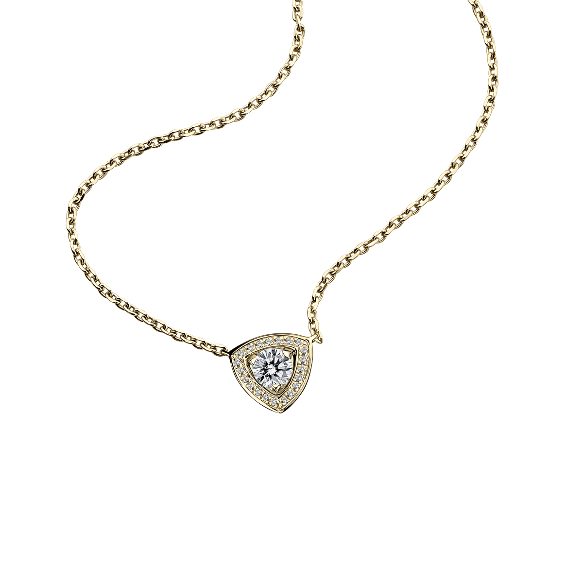 Dream & Love Pendant , yellow gold, central diamond 0,50 carat approximatively