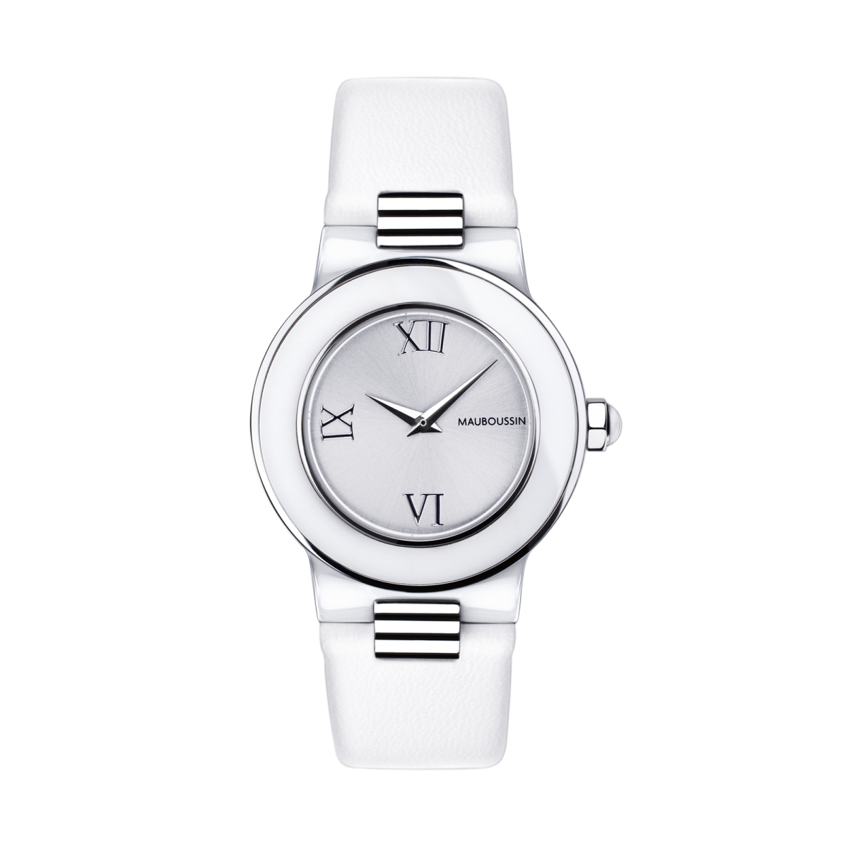 Amour le Jour watch, roman numerals and leather strap