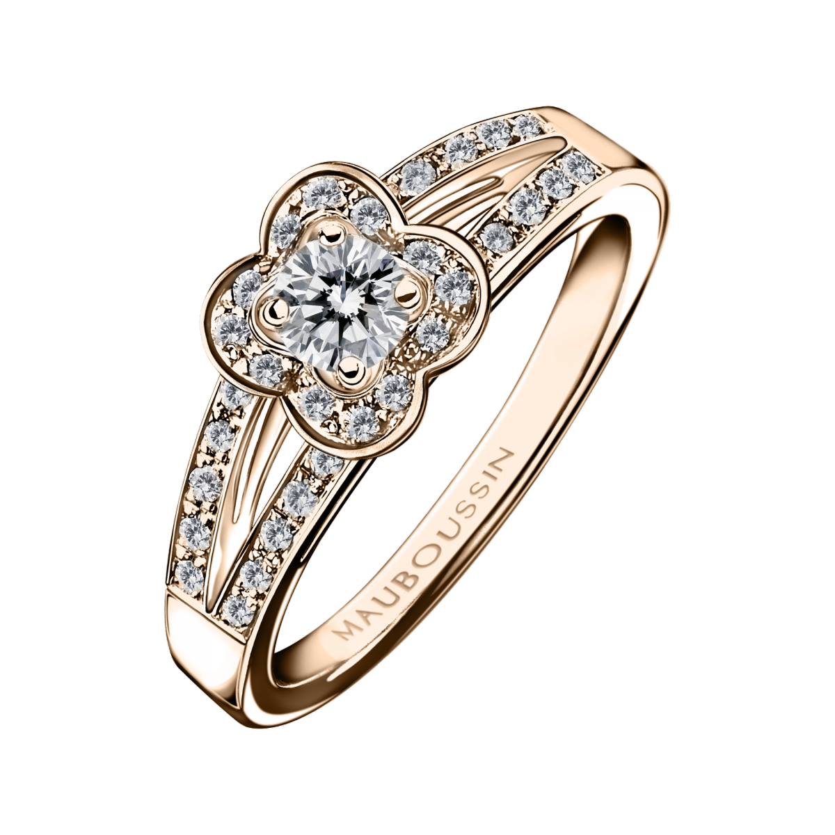 Chance of Love N°2 ring, pink gold and diamonds