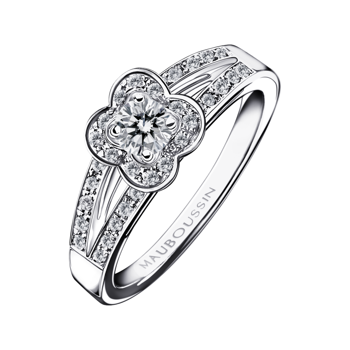 Chance of Love N°2 ring, white gold and diamonds
