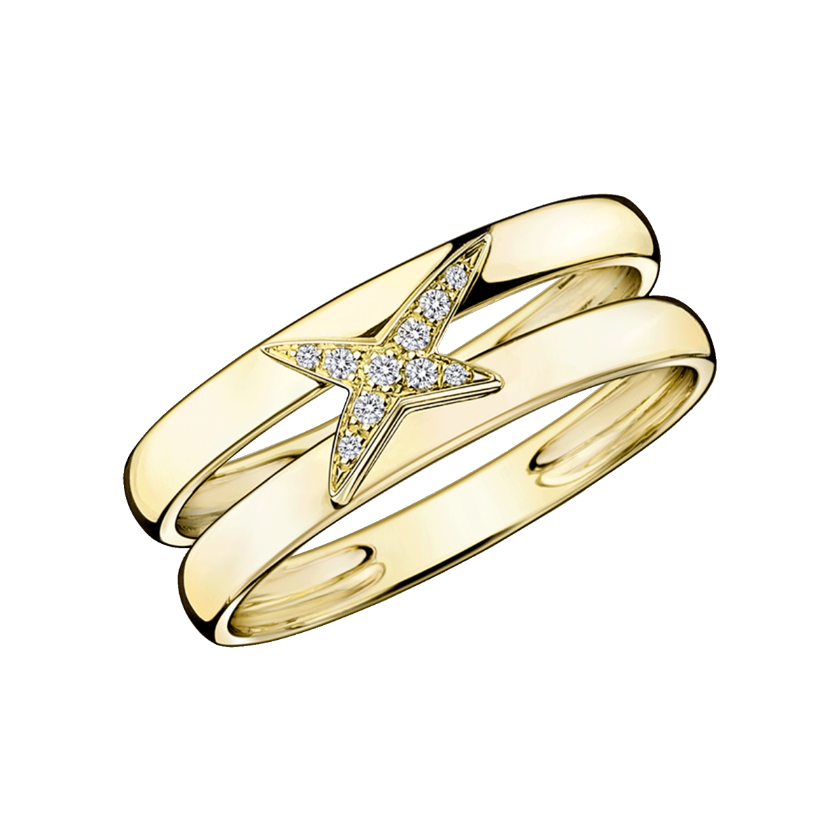 Ring Étoilement Divine, yellow gold and diamonds