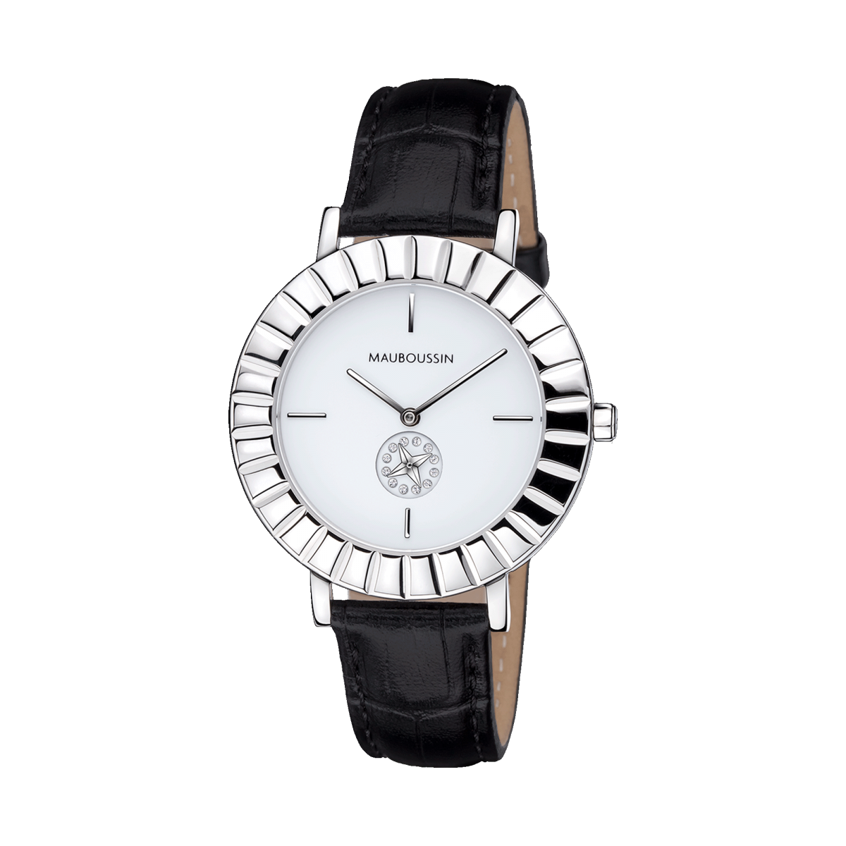 Etoile du Temps watch, silver dial, small