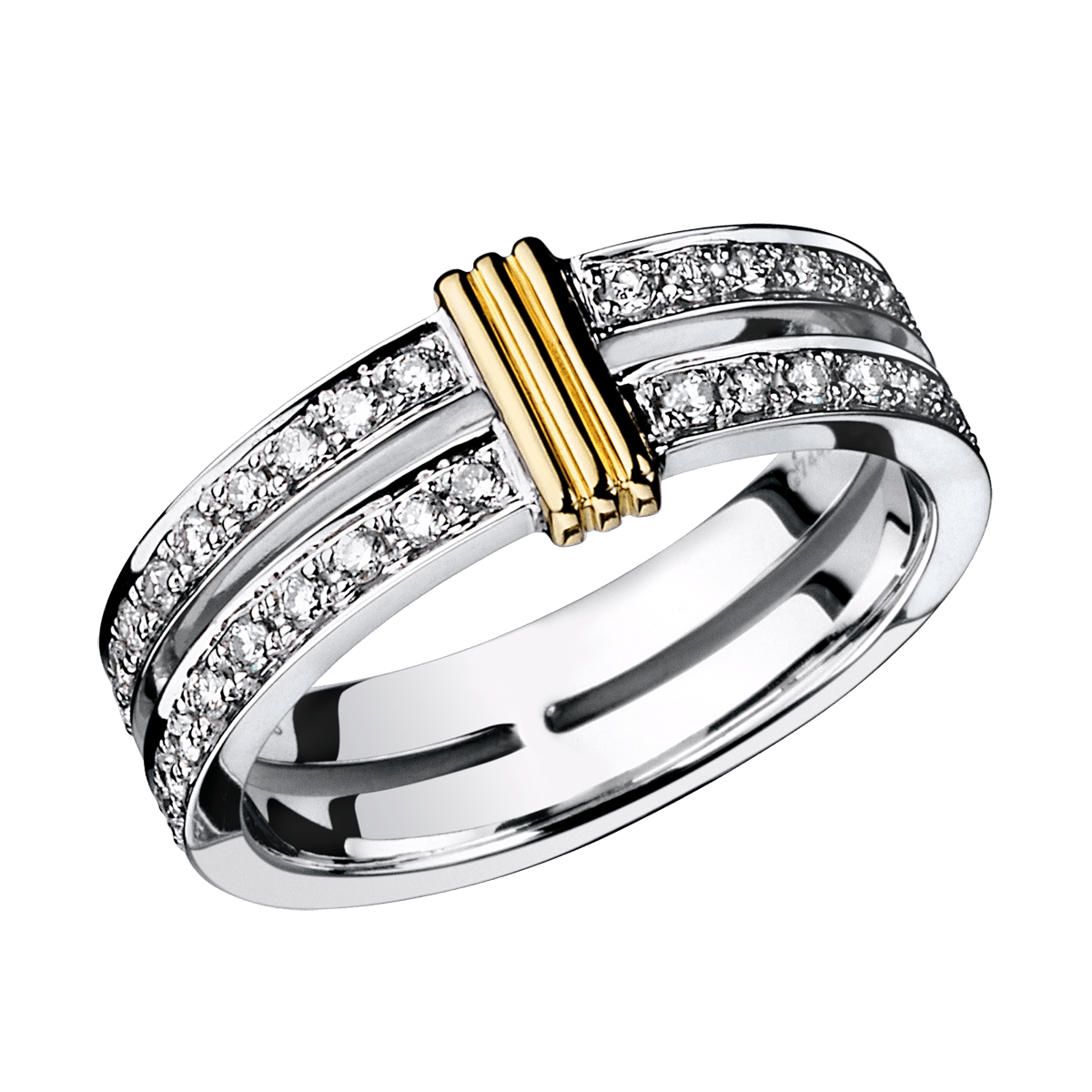 Wedding Band Subtile Eternit� White Gold Link In Yellow Diamonds: Link Diamond Wedding Band At Reisefeber.org