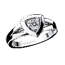 Dream & Love ring, white gold, diamond 0,20 carat approximatively
