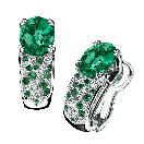 Voyage de Noces Ring, white gold, emeralds and diamonds