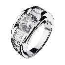 Ring  Alessandra white gold and diamonds