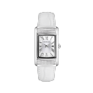 Montre Vitale du Premier Jour watch, white leather