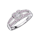 Chance of Love Anniversary, white gold and pink sapphires