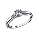 Tu es le Sel de ma vie N°3 engagement ring, white gold and diamonds