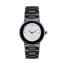 Amour la Nuit watch, black ceramic and fully diamond paved
