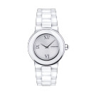 Amour le Jour watch, white ceramic and roman numerals