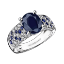 Ring Saphir d'Amour, white gold, sapphires and diamonds