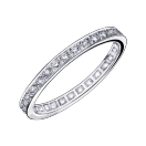 Diam's Sex & Love wedding band, white gold and diamonds