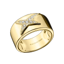 Etoile Divine N°1 ring, yellow gold, diamond paved