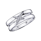Ring Etoilement Divine, white gold and diamonds