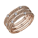 Ring Le Premier Jour, pink gold, diamonds