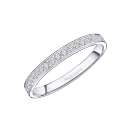 Lovissime Wedding Band, white gold and diamonds