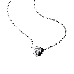 Dream & Love Pendant , white gold, central diamond 0,30 carat approximatively
