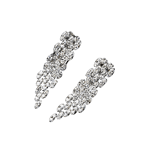 Je Le Veux 5 row diamond earrings, white gold