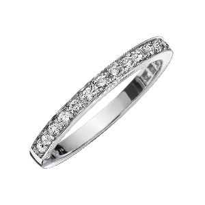 Chance of Love wedding band, diamonds, white gold