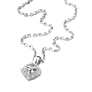 Love my Love Necklace, white gold and diamonds