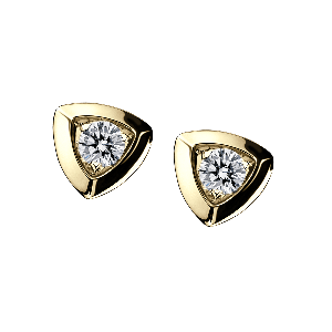 Dream & love Earrings, yellow gold, 2*0,30 carat approximatively