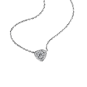 Dream & Love Pendant , white gold, central diamond 0,50 carat approximatively