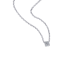 Chaine d'Amour pendant, white gold and diamond