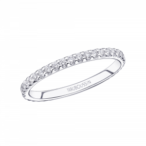 Bellissime wedding band, white gold and diamonds