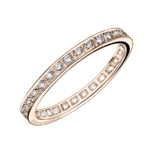 Chance of Love ring, pink gold and diamonds