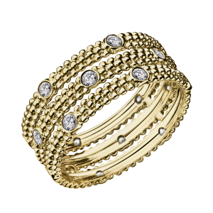 Ring Le Premier Jour, yellow gold, diamonds