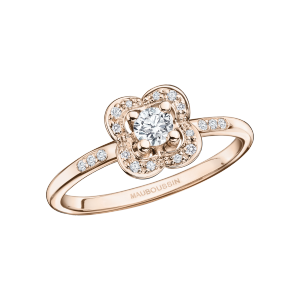 Chance Super One ring, pink gold and diamonds