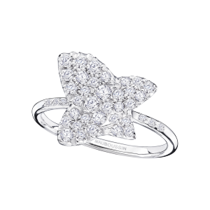 Tu es la Sublime Fleur de ma Vie ring, white gold and diamonds