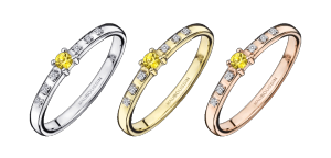 Ring Capsule d'émotion, yellow sapphire and diamonds