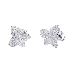 Tu es la Sublime Fleur de ma Vie earrings, white gold and diamonds