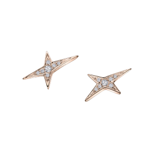 Boucles d'oreilles Valentine parce que Valentin, or rose, diamants
