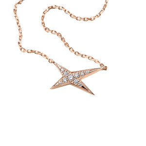 Valentin For You necklace, white gold and diamonds