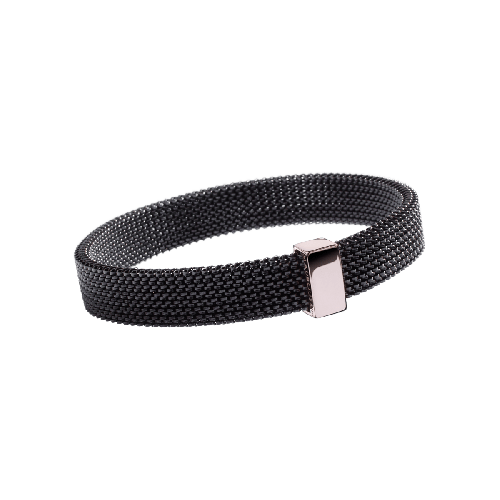 Toi Non Plus bracelet, black steel and pink gold