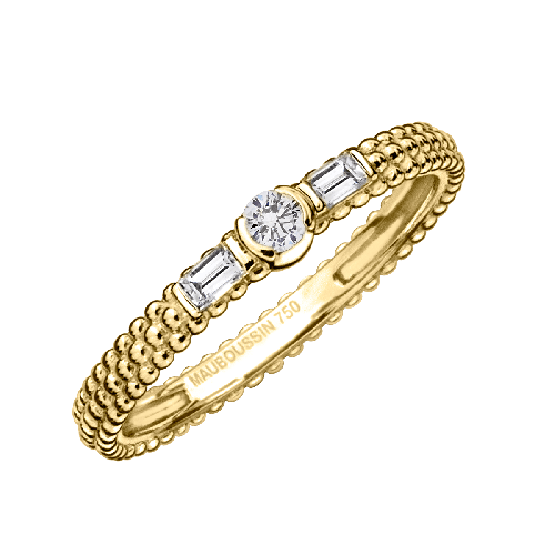 Amour Je t'aime ring, yellow gold and diamonds