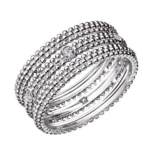 Ring Le Premier Jour, white gold, diamonds
