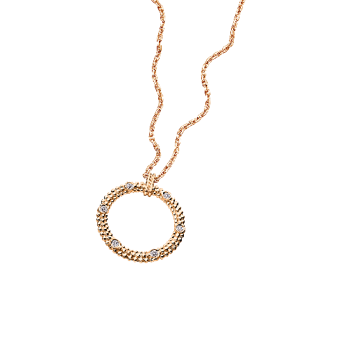 Le Premier Jour pendant, pink gold and diamonds