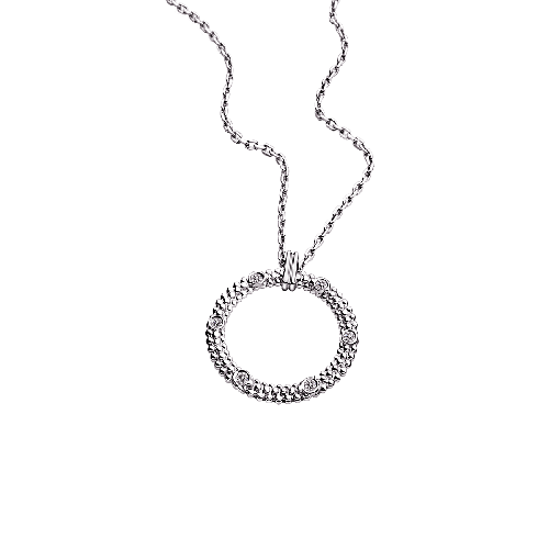 Le Premier Jour pendant, white gold and diamonds