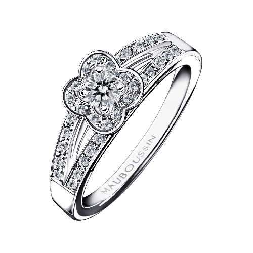 Chance of Love N°1 ring, white gold and diamonds