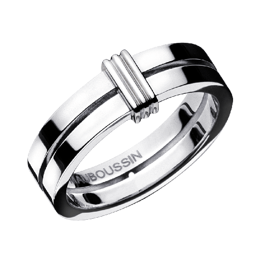 wedding band Subtile Eternité, white gold