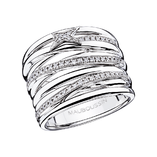 Kiff & Kiss Ring , white gold and diamonds