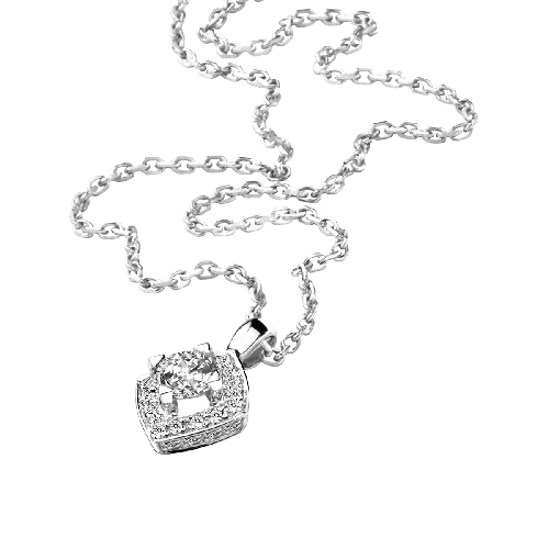 Neckace Love my Love N.3, white gold and diamonds